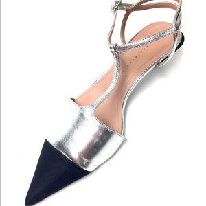 ZARA | Stylish leather kitten heels